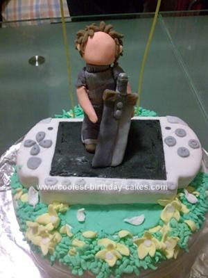 Homemade Crisis Core PSP Cake