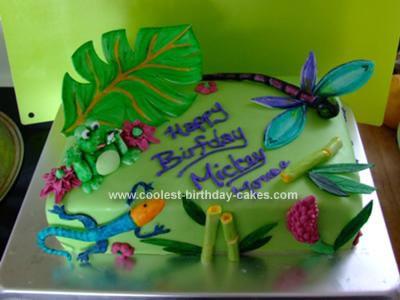 Homemade Critter Cake