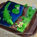 Homemade Crocodile Birthday Cake