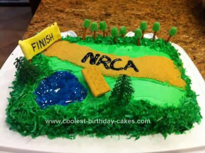 Homemade Cross Country Running Cake
