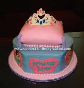 Princess Tiara Crown Cake On A Pillow