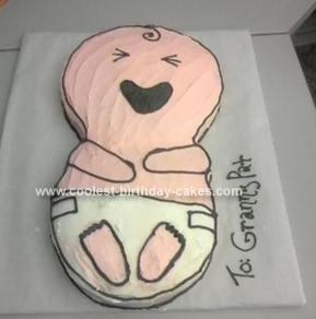 Homemade Crying Baby Cake