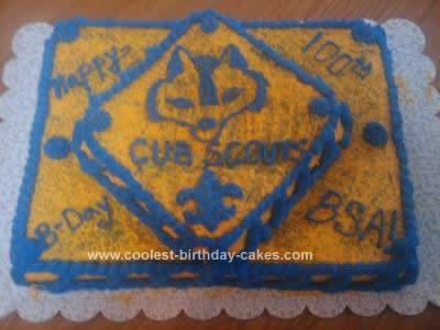Homemade Cub Scout Birthday Cake