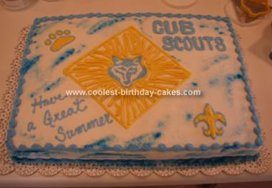 Miraculous Coolest Cub Scout Cake Personalised Birthday Cards Cominlily Jamesorg