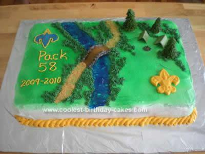 Homemade Cub Scout Graduation Camping Cake