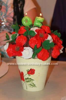 Homemade Cupcake Bouquet Cake Idea