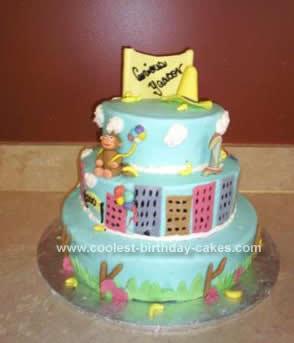 Homemade Curios George Birthday Cake