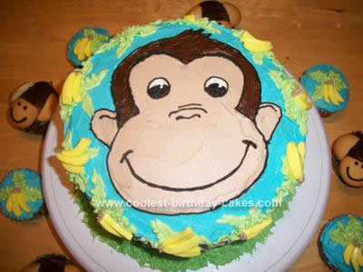 Homemade Curious George 1st Birthday Cake