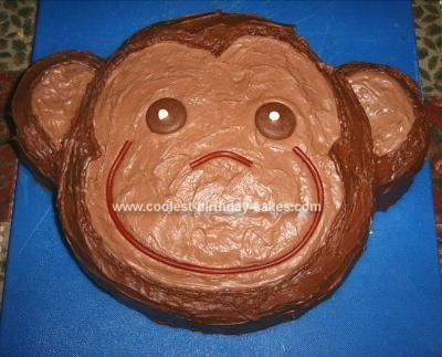 Easy Homemade Curious George Birthday Cake