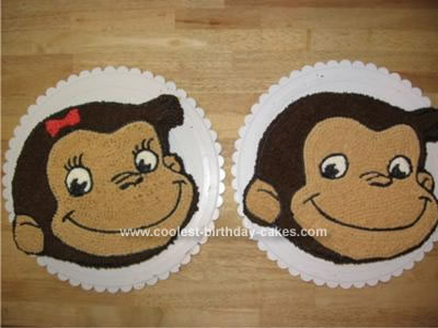 Cool Homemade His And Hers Curious George Birthday Cakes