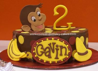 Brilliant Awesome Homemade Curious George Birthday Cake Funny Birthday Cards Online Sheoxdamsfinfo