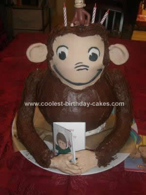 Homemade Curious George Birthday Cake Design