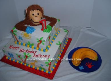 Homemade Curious George Cake