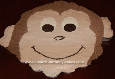 Homemade Curious George CupCake Birthday Cake