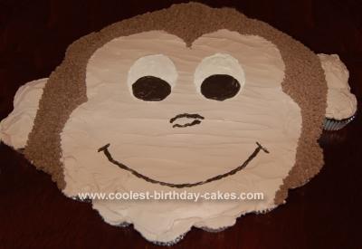 Homemade Curious George CupCake Birthday Cake