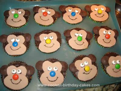 Homemade Cute Monkey Cupcakes