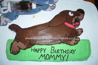 Homemade Dachshund Birthday Cake