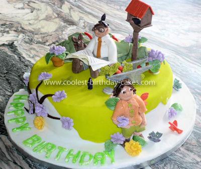 Coolest Dad's Garden Cake