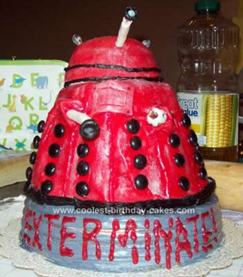 Homemade Dalek Birthday Cake