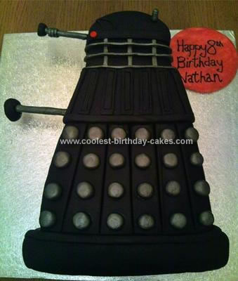 Homemade Dalek (Doctor Who) Cake