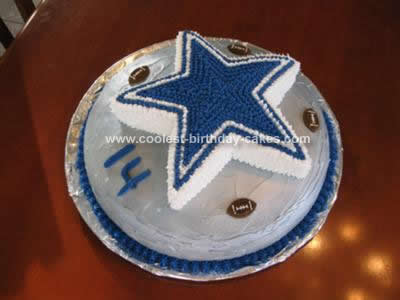 Coolest Dallas Cowboys Star Football Cake