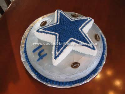 Coolest Dallas Cowboys Star Football Cake