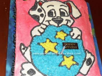 Homemade Dalmatian Puppy Birthday Cake
