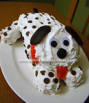 Homemade Dalmatian Puppy Cake