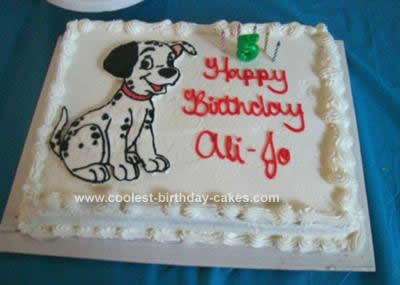 Homemade Dalmation Birthday Cake