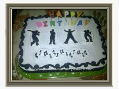 Homemade Dance Birthday Cake