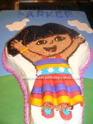 Homemade Dancing Mexican Dora Cake