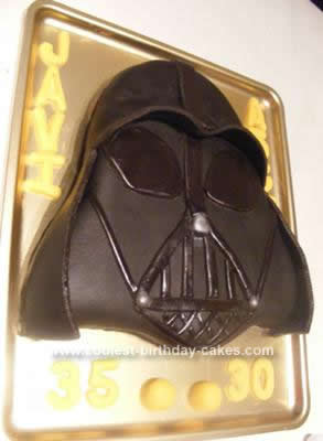 Homemade Dark Chocolate Side of the Force Cake