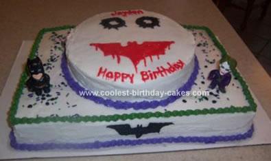 Homemade Dark Knight Joker Cake