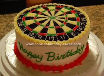 Homemade Dartboard Birthday Cake