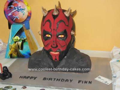 Homemade Darth Maul Birthday Cake