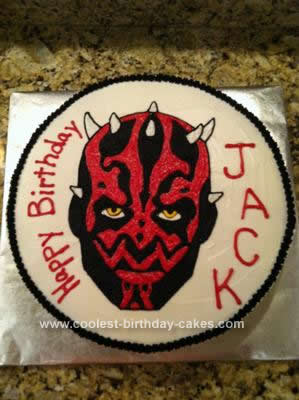 Homemade Darth Maul Cake