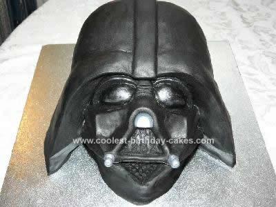Terrific Coolest Homemade Darth Vader Birthday Cake Birthday Cards Printable Trancafe Filternl