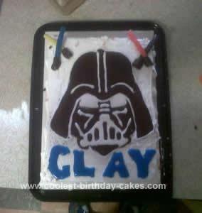 Homemade Darth Vader Birthday Cake