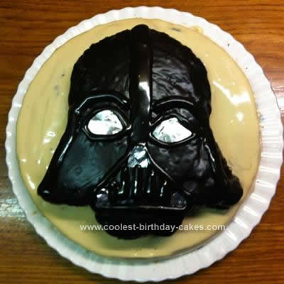 Homemade Darth Vader Birthday Cake