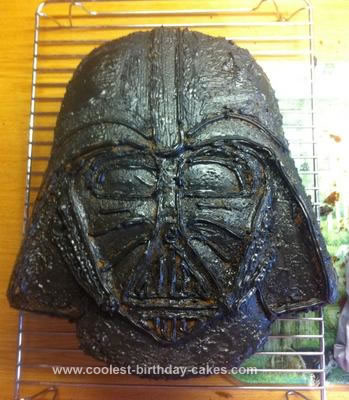 Homemade Darth Vader Cake