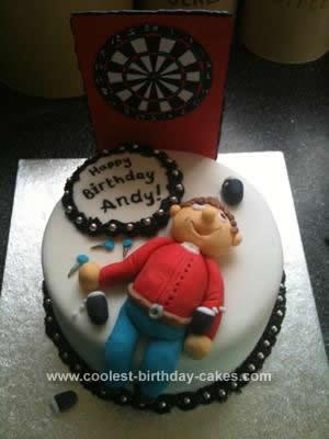 Homemade Darts Birthday Cake