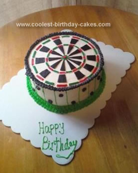 Homemade Darts Cake