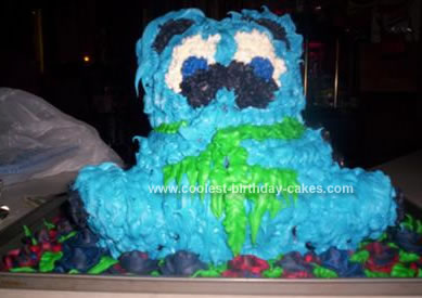 Homemade Dead Bear Cake