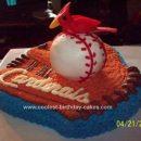 Homemade Dean's St. Louis Cardinals Birthday Cake