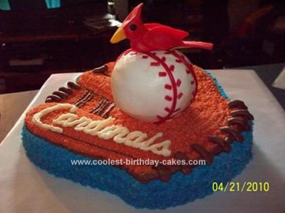 Homemade Dean's St. Louis Cardinals Birthday Cake