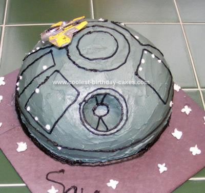 Homemade Death Star Cake 2