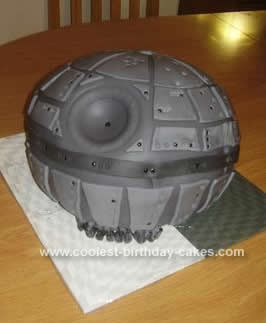 Homemade Death Star Cake