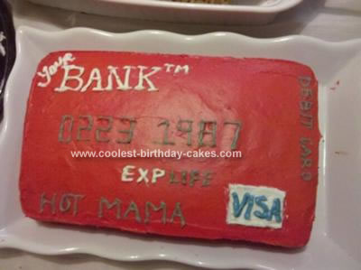 Homemade Debit Card Birthday Cake