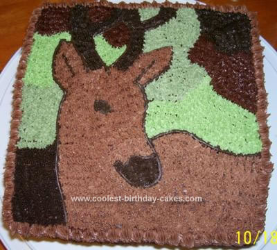 Homemade Deer Birthday Cake