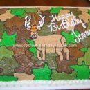 Homemade Deer Birthday Cake